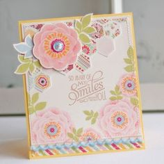 So Many Smiles Card by Betsy Veldman for Papertrey Ink (June 2012)