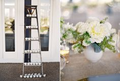 Romantic wedding ideas. #Celebstylewed #Decor #Napa #Ladder #Candles #Reception #Outdoor. @Celebstylewed