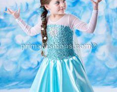 Elsa inspired costume Frozen costume 7 satin style skirt