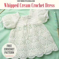 FREE - CROCHET - Whipped Cream Crochet Dress   My Hobby