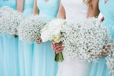 Tiffany blue wedding ideas - tiffany blue bridesmaid desses