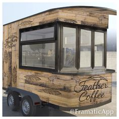 The Feather Coffee trailer design. Giving Hope One Sip at a Time. Feathercoffee.com