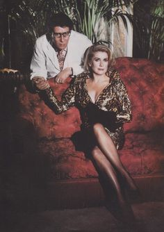 Yves Saint Laurent and his muse Catherine Deneuve