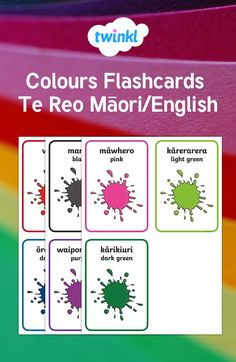 These Māori colour flashcards are great for children to learn the colours in Te Reo. With English translations & pictures, they're ideal for educational games. Color Flashcards, Flashcards For Kids, Aussie Childcare Network, Interactive Poster, Teaching Colors, Primary Resources, Primary Classroom, Memory Games, Printable Cards