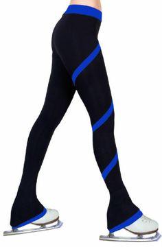 Ice Figure Skating Dress Practice Polar Fleece Spiral Trousers Pants Royal Blue | eBay