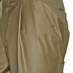 Gianni Manzoni Khaki Dress Trouser