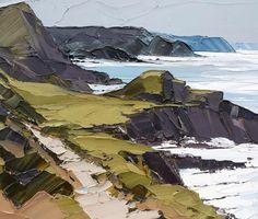 Wild Coast by Matthew Snowden Watercolor Landscape, Landscape Art, Landscape Paintings, Knife Art, Palette Knife Painting, Seascape Paintings, Oil Paintings, Art Oil, Painting Inspiration