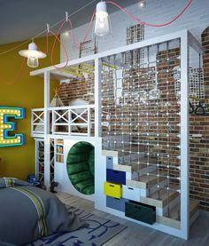 Детская комната для мальчика : Детская в стиле модерн от Sweet Home Design