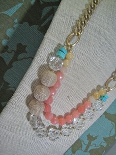 Textured ball Necklace    Featuring semi precious beads with colors that can be worn with anything!