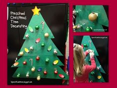 Speech Room News: O Christmas Tree, Preschool Christmas Tree.