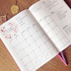 """3,056 mentions J'aime, 46 commentaires - Roz • bullet journal•studygram (@rozmakesplans) sur Instagram : """"I'm ready for October! I need to decide on the colors for uni and such, and fill in the calendar,…"""""""