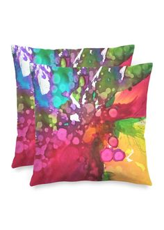 Blossoming 47-b - Square Pillow by Eliora BOUSQUET Red Pillows, Accent Pillows, Throw Pillows, Black Garden, Decoration, Pillow Covers, Creations, Abstract, Artwork