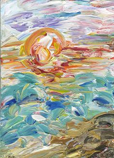 """Painting by Ginnie Johnson inspired by  Psalm 139:17-18, """"How precious also are thy thoughts unto me, O God! how great is the sum of them!If I should count them, they are more in number than the sand: when I awake, I am still with thee."""" www.kings-daughters.com"""