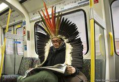 Nixiwaka is raising awareness of the threats to Brazilian tribes ahead of the FIFA World Cup 2014.