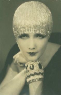 Silent film star Jetta Goudal who in this photograph epitomises the glamour and luxury of Hollywood and the 1920s.