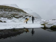 You can even surf in #iceland #westfjords.