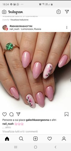 Gel Manicure Nails, Bling Acrylic Nails, Glam Nails, Pink Nails, Cute Nails, Pretty Nails, Nail Designs Pictures, Cute Nail Art Designs, Feather Nails