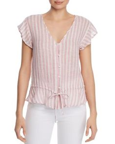 New Rails - Bretton Peplum Top. Womens fashion Tops from top store Casual Skirt Outfits, Cute Comfy Outfits, Dresses For Apple Shape, Womens Trendy Tops, Blouse And Skirt, Summer Shirts, Ladies Dress Design, Blouse Designs, Blouses For Women