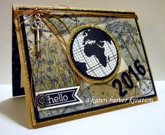 HAD to REALLY put on my thinking cap for a New Years card, didn't have any New Years stamps…..but I had fun doing it! I love to pull this old technique out every once in a while…the old retiform technique.  Makes for a decent collage. :) Happy New Year everyone, almost, and Happy Tuesday!!