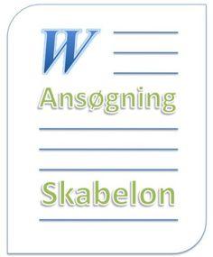 Ansøgning eksempel skabelon word