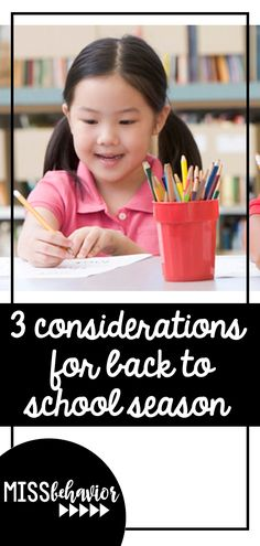 3 considerations to start the school year thoughtfully!