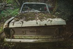 https://flic.kr/p/rQQnxp | Long Stay Parking [Explore] | One of many abandoned cars at Hoarders Car Graveyard tucked away in a wooded copse. All the cars have now been cleared away.  Single RAW exposure with a texture overlay.