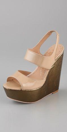 Alice + Olivia  Savannah Platform Wedge Sandals  Style #:ALICE40496
