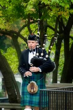 A bagpiper is a must for a St. Patrick's Day.