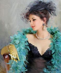Glamorous Paintings by Konstantin Razumov. Konstantin is A young and talented artist from Russia, he has painted all kinds of subjects, from glamorous ladies to landscapes.