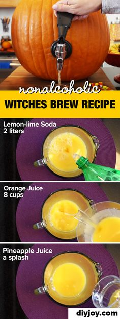 Halloween Drink Recipes - How to Make Non-Alcoholic Witches Brew Punch