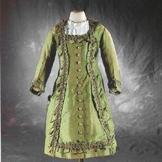Child's silk taffeta dress, 1878.
