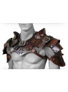 Klamotte Top quality LARP armor on your villain outfit, made by hand from 3 - four mm thick leather- Viking Armor, Medieval Armor, Orc Armor, Medieval Gown, Mode Steampunk, Steampunk Fashion, Fashion Goth, Larp, Armor Clothing