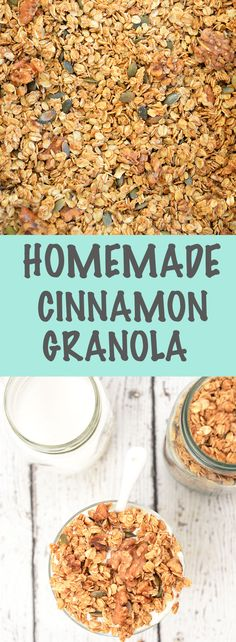 Homemade Cinnamon Maple Granola Parfait - start your day off with a healthy breakfast!