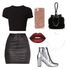 """#11"" by saranoexiste on Polyvore featuring Getting Back To Square One, Yves Saint Laurent, Alexander Wang, Case-Mate and Lime Crime"
