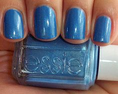 Essie One Day Without Blues. Should I venture into the blue tones for a pedi, I'm still feeling a more aqua iridescent blue for now, but this is a pretty shade and it supports a great cause. http://www.toms.com/one-for-one-en