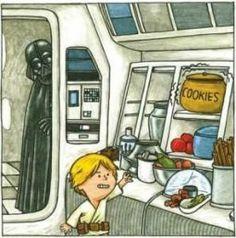 Darth Vader and son Star Wars Comics, Star Wars Humor, Lego Star Wars, Images Star Wars, Star Wars Pictures, Darth Vader And Son, Library Humor, Star Wars Fan Art, Star War 3