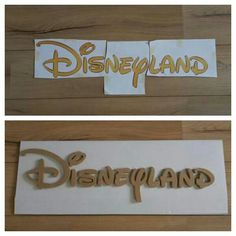 My own Disneyland sign in production, pics from the wood factory