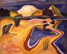 Karl Schmidt-Rottluff, Dunes and Lagoon, 1947 Ernst Ludwig Kirchner, Emil Nolde, Paul Klee, Wassily Kandinsky, Karl Schmidt Rottluff, Max Beckmann, August Macke, Avant Garde Artists, Art