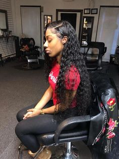 These black hairstyles with weave are stylish – Schwarze Frisuren Black Hairstyles With Weave, Black Girls Hairstyles, Braided Hairstyles, Frontal Hairstyles, Sew In Weave Hairstyles, Teenage Hairstyles, Straight Hairstyles, College Hairstyles, Curly Hair Styles