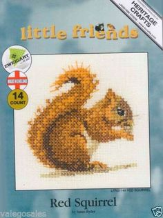 Heritage-Valerie-Pfeiffer-Counted-Cross-Stitch-Kit-RED-SQUIRREL-lHCK1149-Sale