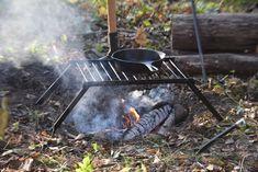 Medium Grill  Camping  BBQ  Traditional bushcraft cooking equipment  folding Grill  Camping  Bushcraft