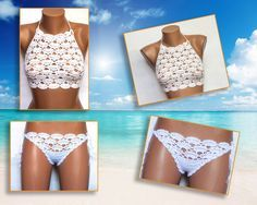 Crochet Sexy Bikini Women Swimwear Beach Wear by LoveKnittings