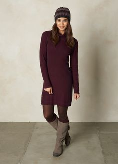 I love the prAna Kelland Dress! Check it out and more at www.prAna.com Outdoorsy Fashion, Outdoorsy Style, Warm Outfits, Fall Winter Outfits, Montana, Dress Skirt, Healthy Living, My Style, Cute