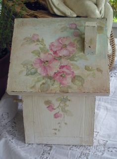 Roses and Pearl Pearch Birdhouse - Google Search