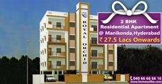 #2bhk flats for sale in #Manikonda, Hyderabad with all modern amenities. For more details click on http://www.homesulike.com/index.php/projects/viewdetails/Royal-Orchid