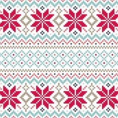 Nordic Pattern Christmas Card