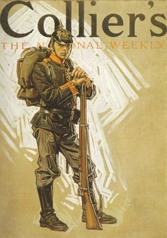 German soldier, Collier's Magazine cover