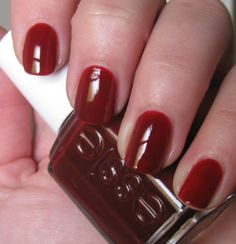 Essie Rock The Croc. an interesting red brown color.  I like to layer this color with other colors.