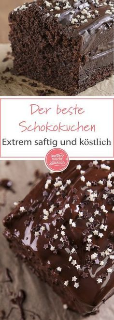 Der beste Schokoladenkuchen Simple chocolate cake recipe for a wonderfully juicy chocolate cake. Whether as a birthday cake or for coffee – this classic chocolate cake is always well received!The best chocolate cake - food Chocolate Cake Recipe Easy, Best Chocolate Cake, Chocolate Chip Cookies, Chocolate Recipes, Chocolate Chocolate, Baking Chocolate, Easy Cheesecake Recipes, Easy Cookie Recipes, Dessert Recipes