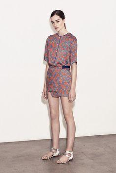 Thakoon Addition Resort 2014 | Ben fan, van 't model en de stof van deze jurk